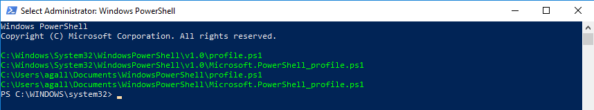 PowerShell profile sequence