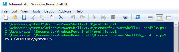 PowerShell ISE Profile sequence