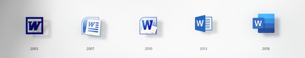Word icon evolution