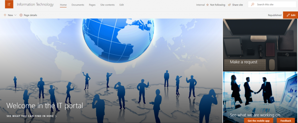 Modern Communication site home page