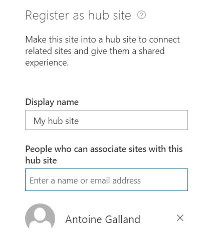 HubSite registering prompt