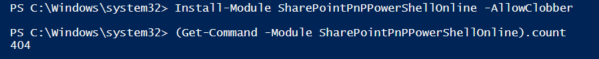 Install PNP online SharePoint Powershell module