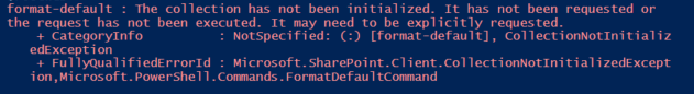 collection has not been initialized