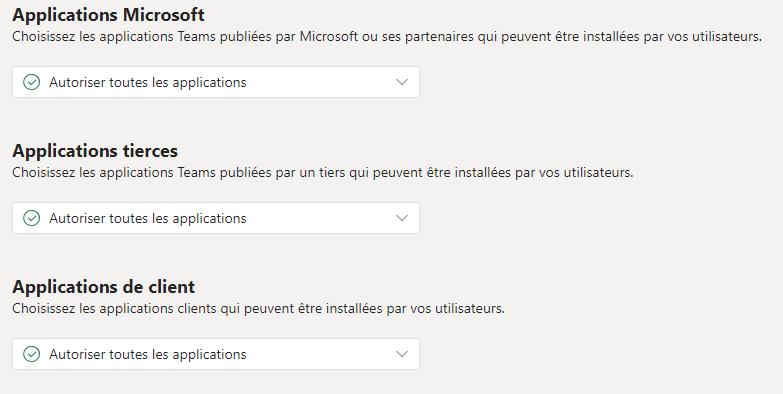 Stratégie d'autorisation d'applications Microsoft Teams