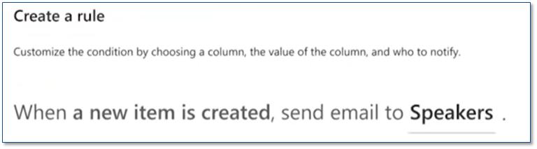Les règles Microsoft Lists